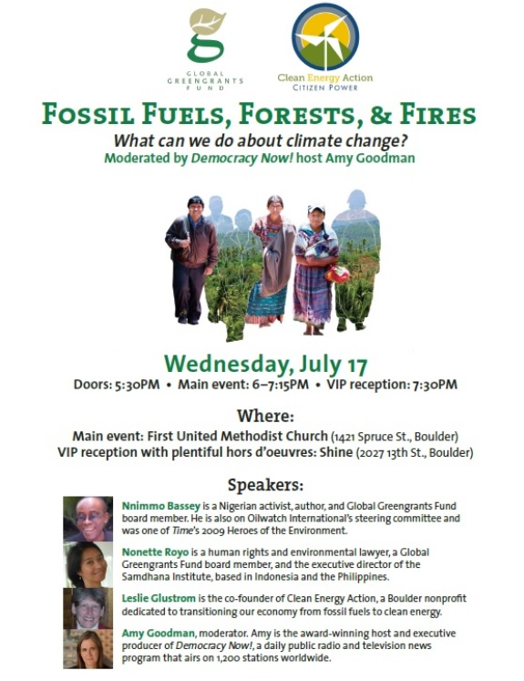 Fossil Fues, Forests, and Fires Flyer