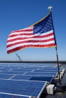 solar panel american flag